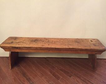 1820s through mortise and tenon bench