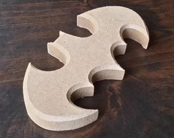 Wooden Batman logo
