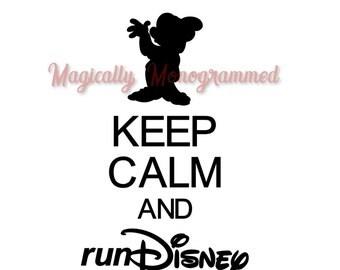 Keep Calm and Run Disney vinyl decal