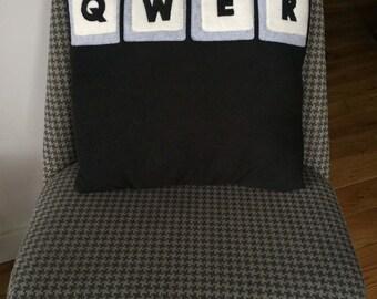 QWER - Keyboard Gamer Pillow
