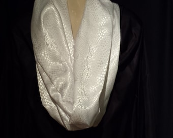 white on white scarf