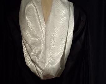 white on white prayershawl/scarf