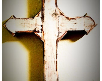 Age Distressed Wooden Wall Cross