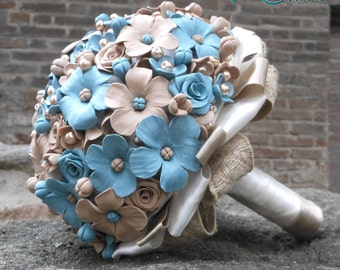 Bridal bouquet in fimo, handmade