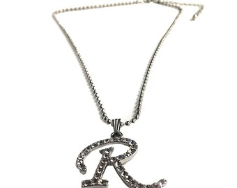 R Pendant Necklace Mean Girls Movie Regina George Gift Letter The Plastics Jewelry Silver Chain High Quality