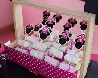 Toppers Minnie Mouse - Toppers for cupcakes - Toppers candies - Toppers Kids Party