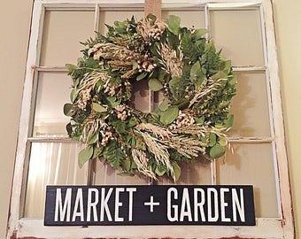 Market + Garden Handcrafted Sign