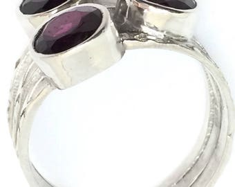 Purple Red Garnets and sterling silver/sold out