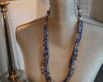 The Furaha- multi strand, blue