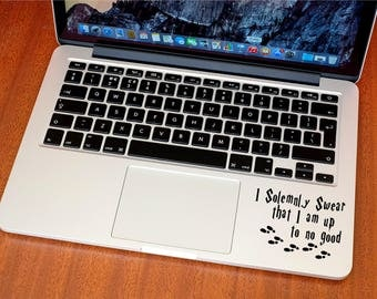 I Solemnly Swear That I Am Up To No Good Sticker - Decal - Harry Potter - Footprints - MacBook - Car - iPhone