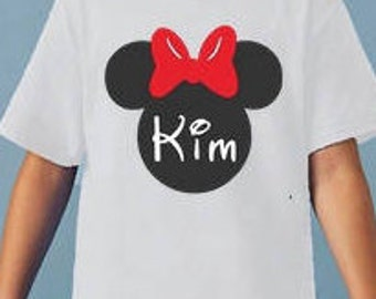 Disney Minnie Mouse Personalized Name Shirt