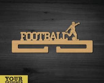 Holder for medals Football.Vector model for laser cut. Instant download.