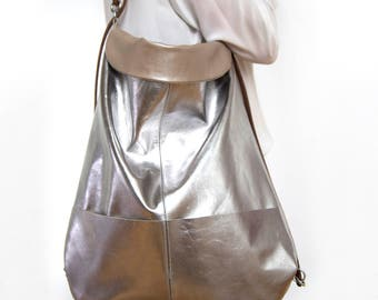 Bag, carrying case, metallic leather, backpack bag,