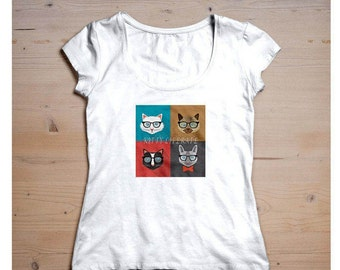 Kitty Literate/Smart Cat T-Shirt