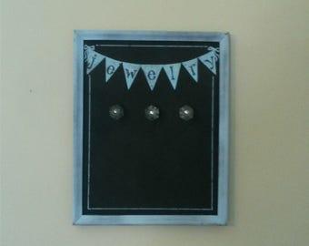 Cheery Pennant Garland Blackboard Jewelry Hanger