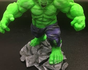 3D Printed and Painted Hulk Figure