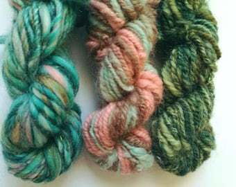 Handspun Art Yarn Mini Bundle – Weaving textures - laine tissage