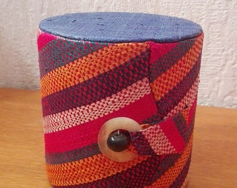 Raffia made hand jewelry box
