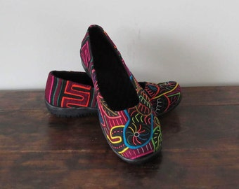 Womens Ballet Flats Size 37, Womens Slip On, Mola Shoes, Mola Flats, Ballet Flats, Vegan Shoes, Handmade Shoes, Colourful Shoes