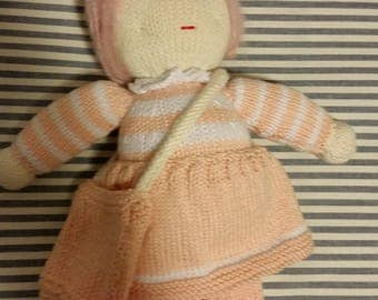 Marsha Mallow - Hand knitted doll
