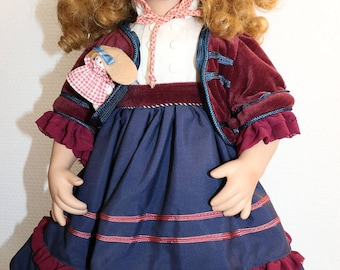 Very nice collector 'Kirsten' porcelain doll with certificate, limited edition