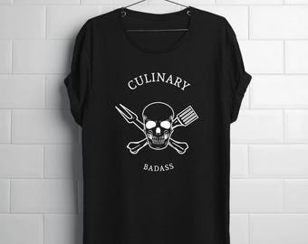 Grilling Gift Men | Culinary Badass | Dad Grilling Gift | Chef Gift Men | Chef Gift | Cooking Shirt | Cooking Gift | Culinary Gift Men
