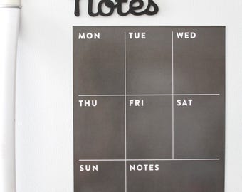 Fridge calendar - magnetic memo board