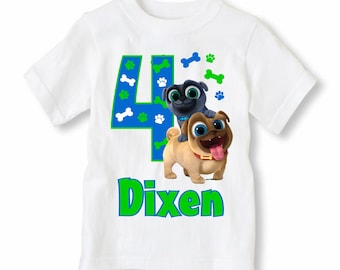 Puppy Dog Pals Shirt Personalized With Name and Age - Puppy  Dog Pals Birthday Shirt