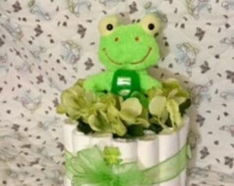 Mini Green Frog Cake