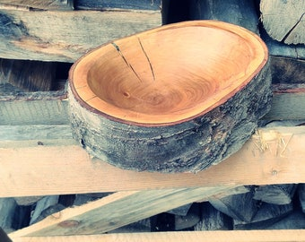 Wooden bowl, Hand made wooden bowl, bowls, cherry wood, wooden bowl from cherry