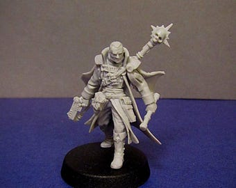 "28mm wargaming and collectible miniature, Inqusitor Gregor by ""W"" Artel"