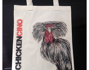 Tote bag by chickencino, Chicken Tote, Chicken Bag, Chicken Products, Chicken Lover
