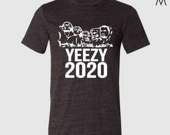Mount Rushmore Kanye 2020 Adult Triblend Short Sleeve Tee