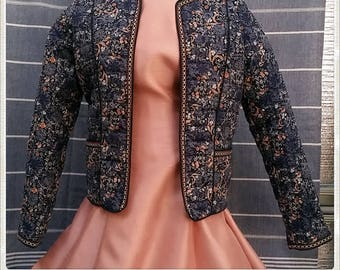 Quilted Bolero | Puffy Cardigan / Jacket | Small