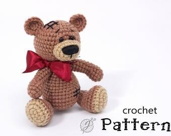 Teddy bear crochet PATTERN Amigurumi bear pattern DIY crochet bear tutorial Crochet bear pattern Amigirumi Crochet teddy bear tutorial