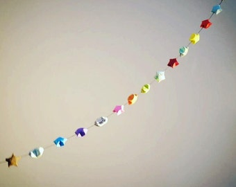 100 Origami Lucky Stars, Garland Available