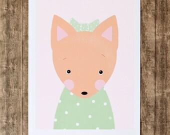Art Print A4 - Fox