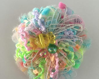 Fireworks Brooch with Candy Gem
