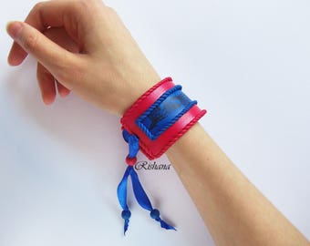 Bracelet from polymer clay
