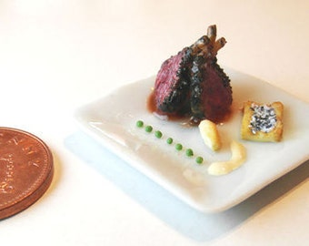 Lamb Dish - Miniature Food