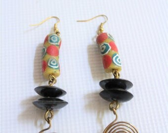 African earrings, Bead earrings, Kenyan earrings, Maasai earrings, handmade earrings