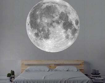 Moon Wall Decal Vinyl Wall Decal Art