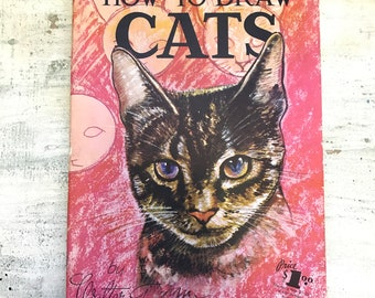 How to Draw Cats by Walter Foster, Mid Century Drawing Book