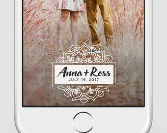 Custom Snapchat Geofilter | Wedding Snapchat Geofilter | White Mandala | Wedding | Party