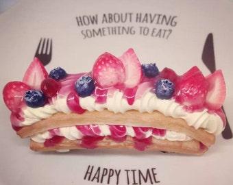 Berry pie barrette
