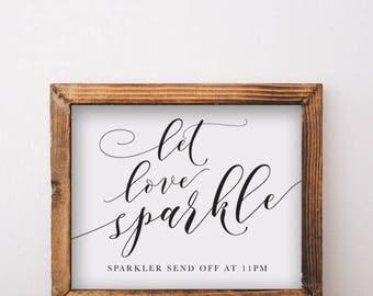 Let Love Sparkle Send Off Sign Printable