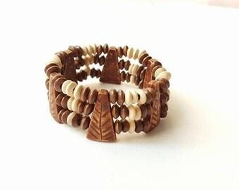 Mala Bracelet, Wooden Bracelets, Mix and Match Beaded Bracelets, Wooden Jewelry, Stackable Jewelry, Stackable Bracelets