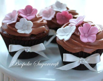 x100 Sugarcraft Cherry Blossom for Any Occasion Cake, sugarflower blossoms, edible flowers, gumpaste blossoms