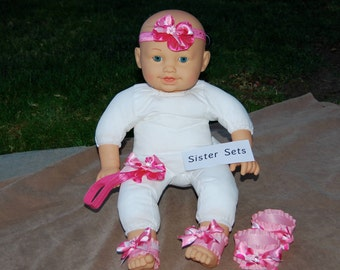 Ankle Babies for Sisters, Including Ankle bands and Headband