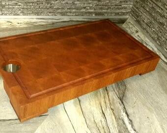 A mahogany cutting board